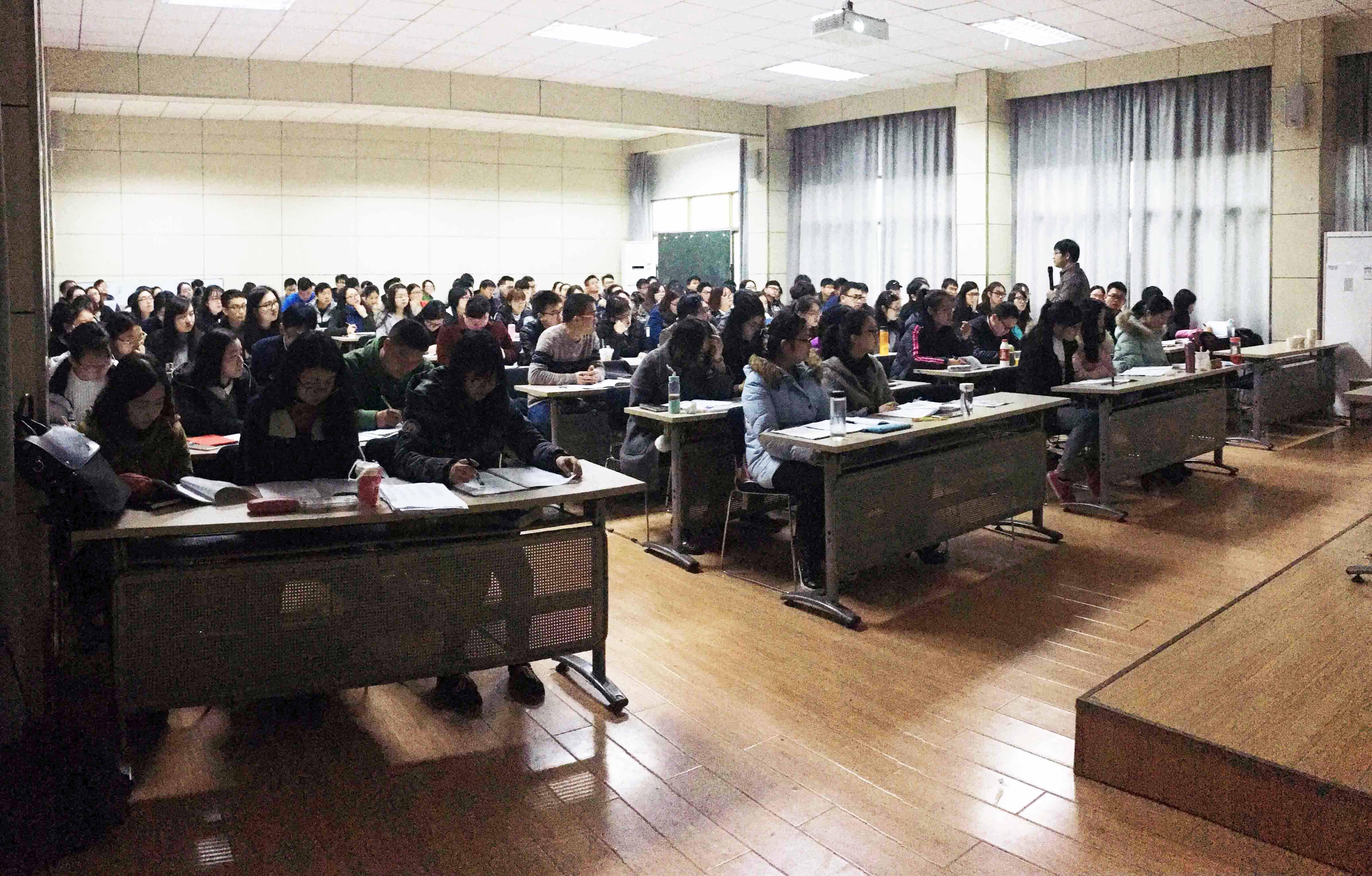 2017年省考笔试湖北大学授课现场