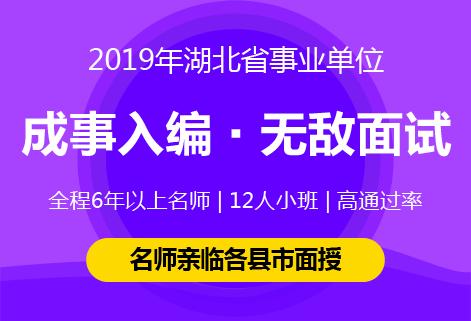 灵鹏2019年湖北省事业单位无敌面试课程