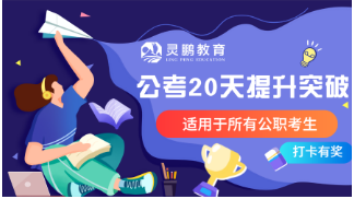 灵鹏2020年公职类考试20天名师深度高能网课