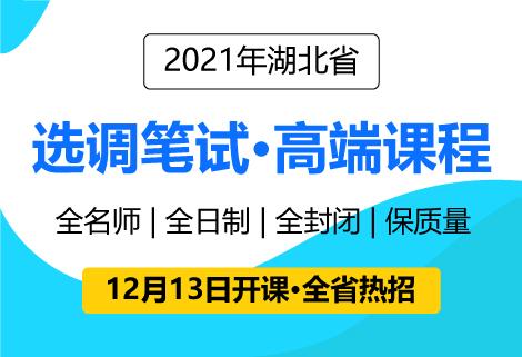 灵鹏2021年湖北选调生笔试高分课程